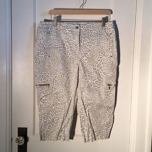Chico's Leopard Print Crops w/ Gold accents